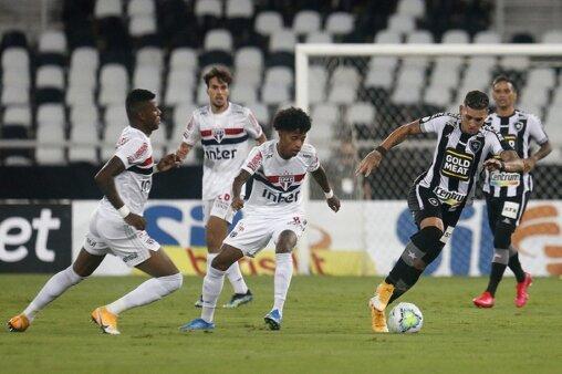 Botafogo 1 x 0 São Paulo pela 37ª rodada do Brasileirão 2020 (Foto: Vítor Silva/ Reprodução/ Flickr oficial do Botafogo F.R.)