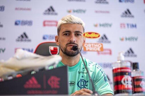Arrascaeta vai completar 100 jogos pelo Flamengo.