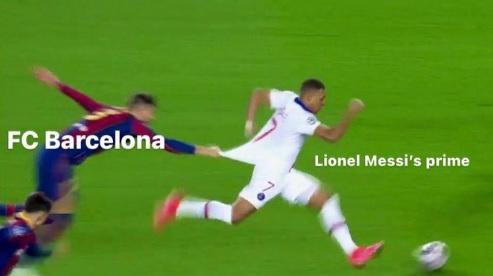 Mbappé Barcelona PSG memes