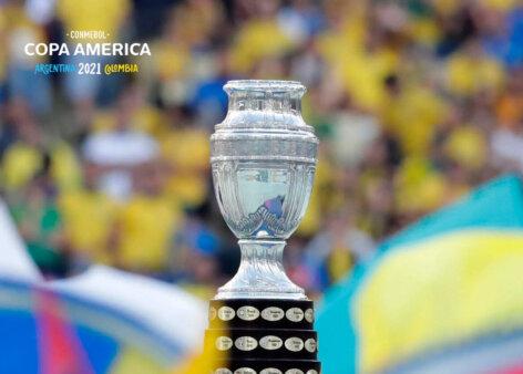 Copa América ocorre no meio do ano.