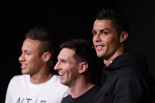 Cristiano Ronaldo, Messi e Neymar na Fifa