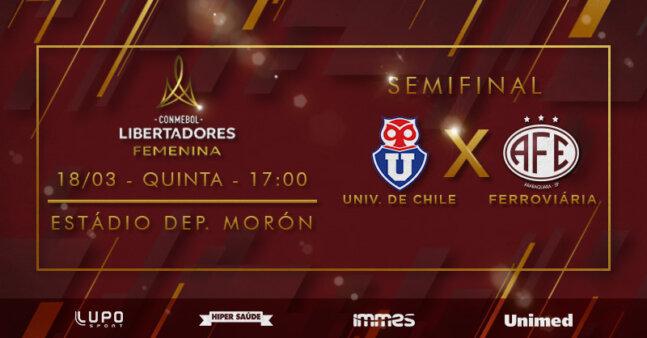 Universidad de Chile x Ferroviária Libertadores feminina AO VIVO