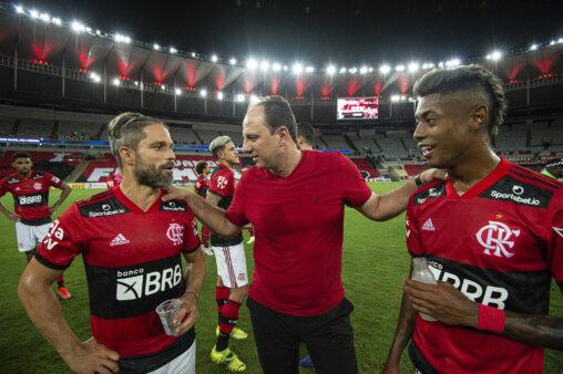 Rogério Ceni, Diego e Bruno Henrique no Flamengo