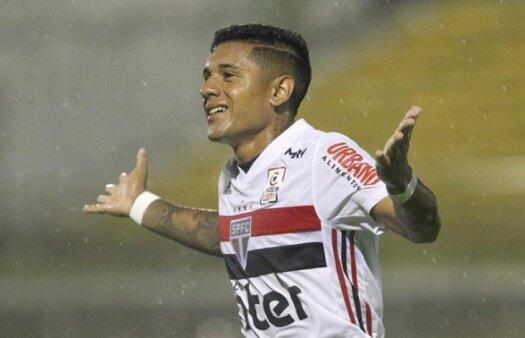 """Galeano marca primeiro gol com a camisa do São Paulo e busca espaço no time: """" Vai chegar o meu momento"""""""