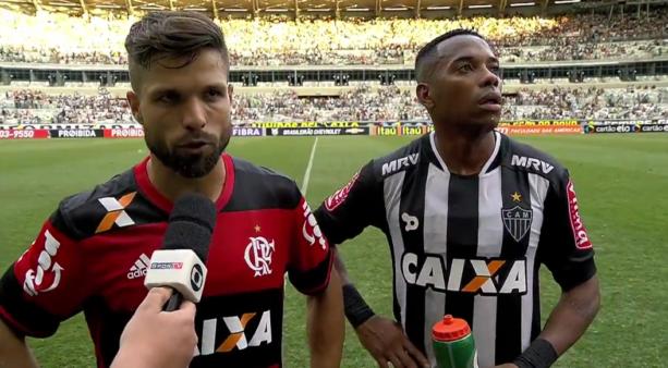 Diego falou sobre Robinho.