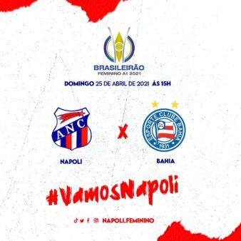 Assistir Napoli-SC x Bahia Brasileirão Feminino AO VIVO