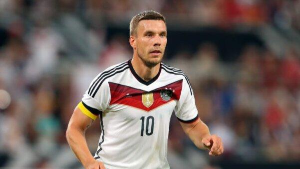 Lukas Podolski pela seleção da Alemanha em 2014
