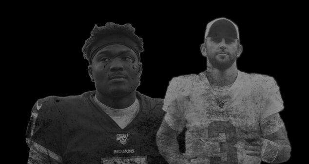 Dwayne Haskins, QB do Pittsburgh Steelers e Josh Rosen, QB do San Francisco 49ers, foram selecionados no Draft e não deram certo até aqui