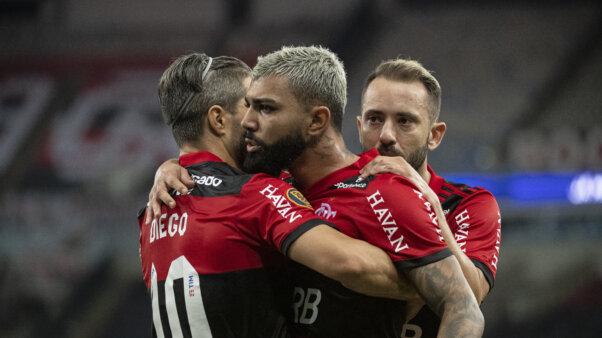 Diego e Gabigol em Flamengo x Fluminense