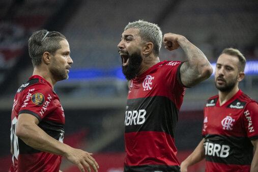 Diego e Gabigol em Flamengo x Fluminense - Brasileirão
