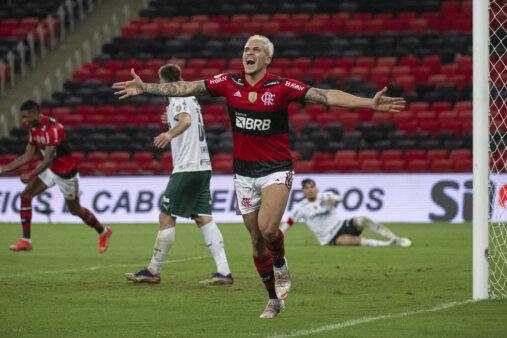 Pedro no Flamengo x Palmeiras pelo Brasileirão