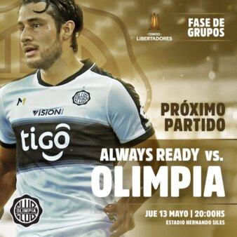 Always Ready x Olimpia guia
