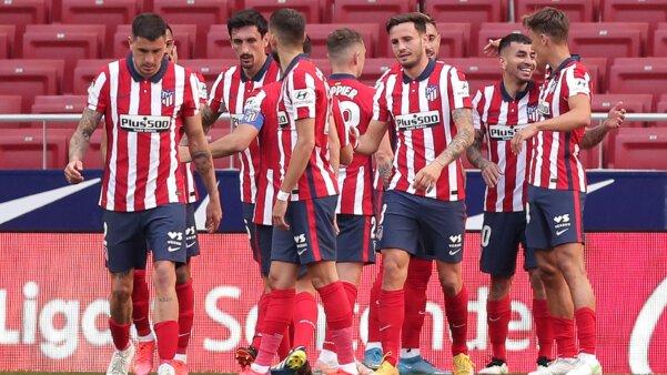 Jogadores do Atlético de Madrid. Real Sociedad