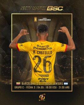 Barcelona-EQU x Boca Juniors guia