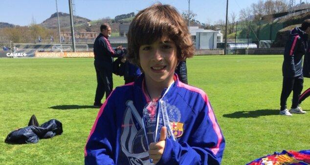 Matías Lacava em ação pelo Barcelona