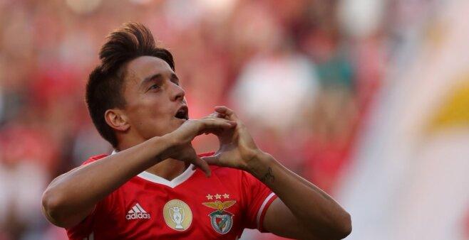 Franco Cervi em ação pelo Benfica