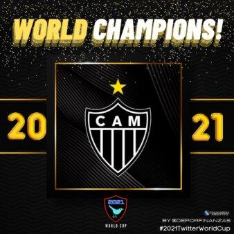 Atlético-MG venceu Copa do Mundo do Twitter.