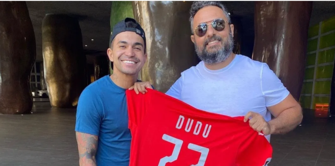 Mattos trabalhou com Dudu no Palmeiras.
