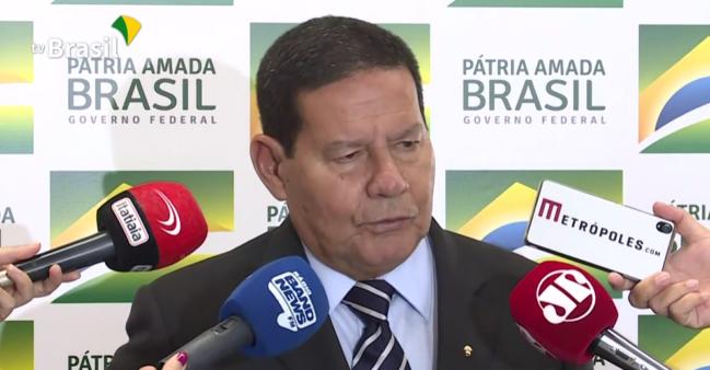Mourão falou sobre a Copa América.