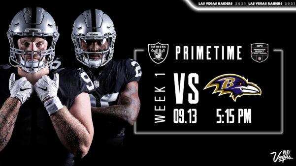 No primeiro Monday Night Football da temporada 2021 da NFL, Ravens e Raiders terão primeiro jogo com torcida no Allegiant Stadium, estádio de Las Vegas
