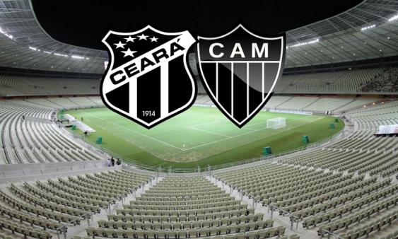 Ceará x Atlético-MG AO VIVO pelo Brasileirão - Foto: Arena Castelão/ Divulgação/ CBF (Arte: Adriano Oliveira)
