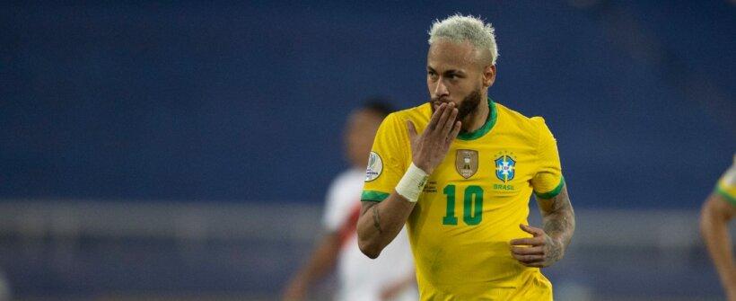 Jogando muito! Neymar participou de 10 gols nos últimos 5 jogos do Brasil
