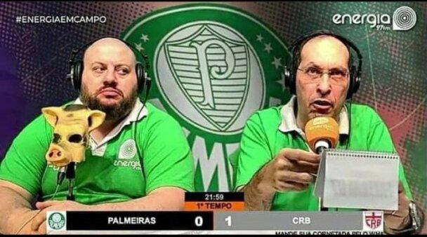 Internautas provocam Domenico Gatto após classificação do CRB contra o Palmeiras