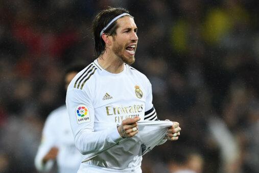 Sergio Ramos atuando pelo Real Madrid