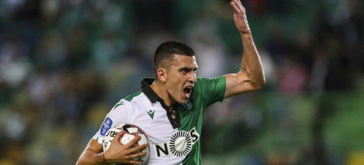 Rodrigo Battaglia em ação pelo Sporting