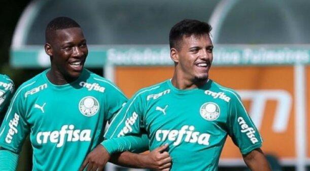 Patrick de Paula e Gabriel Menino no Palmeiras