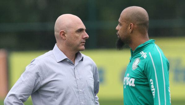 Felipe Melo e Galiotte no Palmeiras