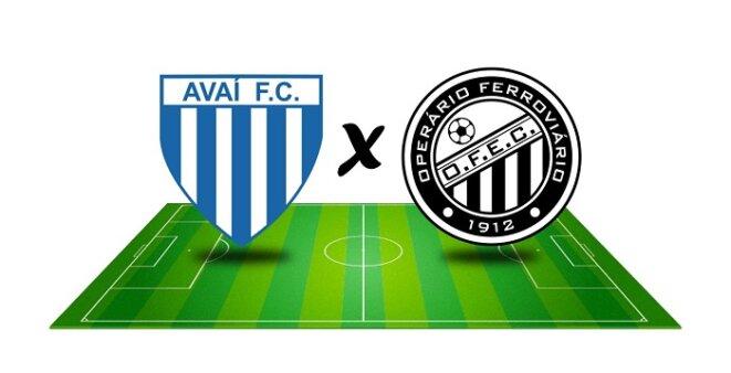 Avaí x Operário-PR AO VIVO pelo Campeonato Brasileiro Série B (Imagem: Reprodução/ Arte: Adriano Oliveira)