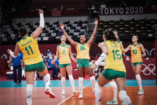 De virada, Brasil supera República Dominicana no tie-break nos Jogos Olímpicos