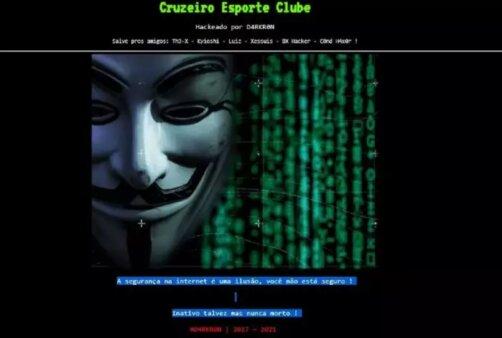 Cruzeiro: Site invadido por hackers