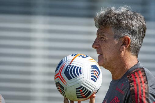 Renato Gaúcho em ação pelo Flamengo