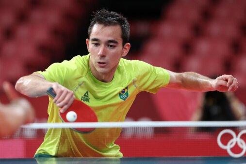 Hugo Calderano perde para alemão de virada no tênis de mesa e está fora das olimpíadas