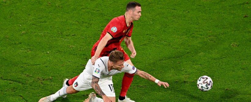 """Milagre? Immobile, da Itália, """"se recupera"""" logo após gol contra a Bélgica"""