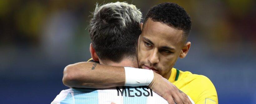Neymar x Messi na Copa América: os números do duelo entre os craques Brasil x Argentina