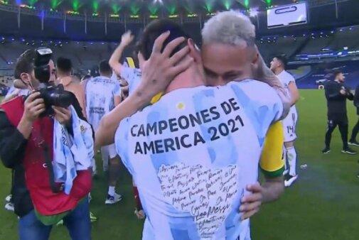 Neymar e Messi na Copa América