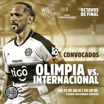 Olimpia x Internacional guia