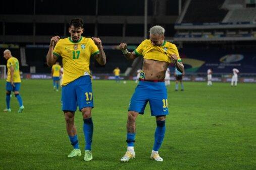 Neymar e Paquetá seleção brasileira