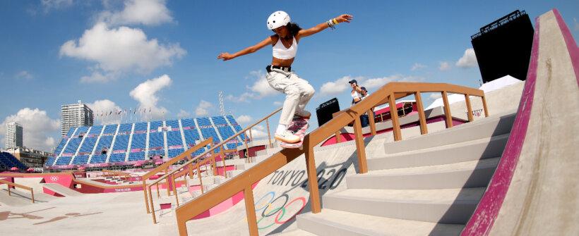 Olimpíada: calor castiga, e Rayssa Leal usa colete de gelo em treino