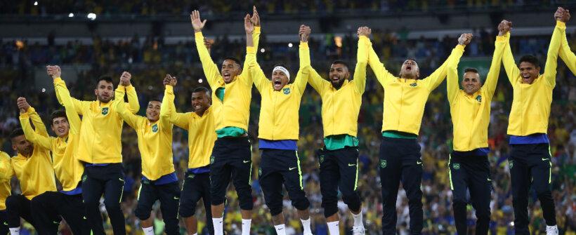 As seleções com mais chances de medalha de ouro no futebol masculino