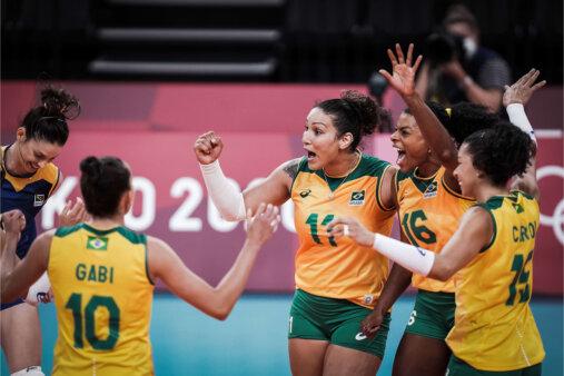 Sérvia x Brasil vôlei feminino Olimpíadas AO VIVO