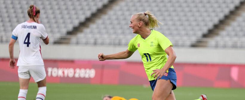 Olimpíada de Tóquio: Suécia surpreende, domina EUA e vence na estreia