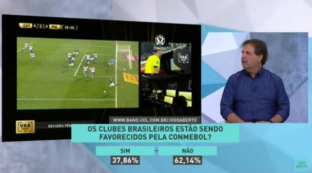 Foi ou não foi pênalti para o Palmeiras na Libertadores? Comentaristas do Jogo Aberto opinam