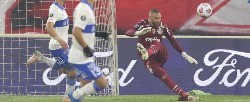 Weverton faz 2ª partida com mais defesas pelo Palmeiras na Libertadores