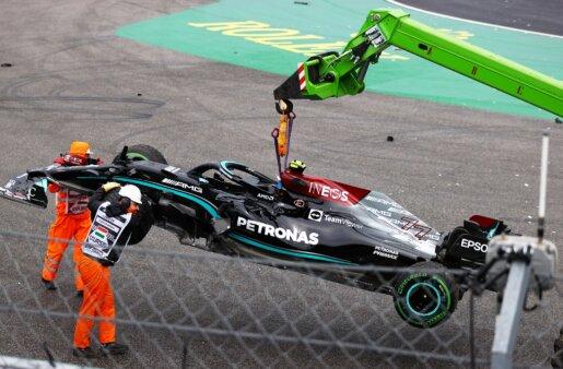 Carro de Valtteri Bottas após acidente no GP da Hungria