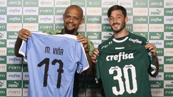 Felipe Melo e Viña no Palmeiras