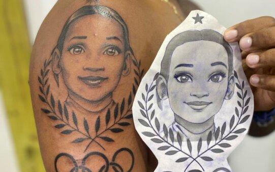 rebeca andrade tatuagem olimpiadas brasil